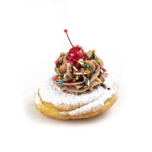 Banana Split Chocolate Cream Donut