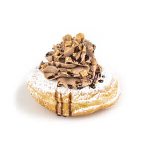 Raised Donut with Heath Bar and Chocolate Cream