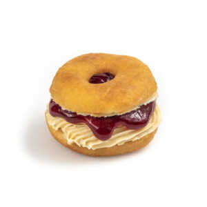 Peanut Butter Raspberry Jelly Sandwich Donut