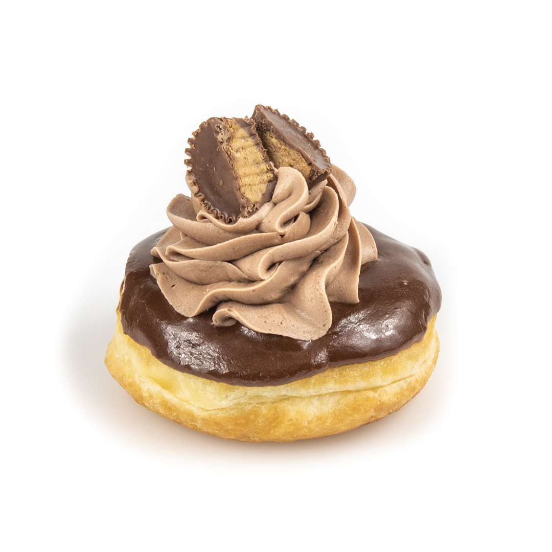 Reese's Cup chocolate icing donut