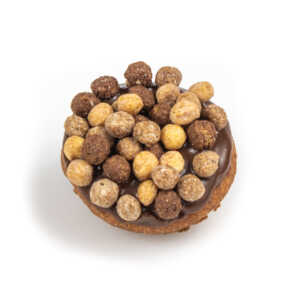 reeses puffs topped cake donut