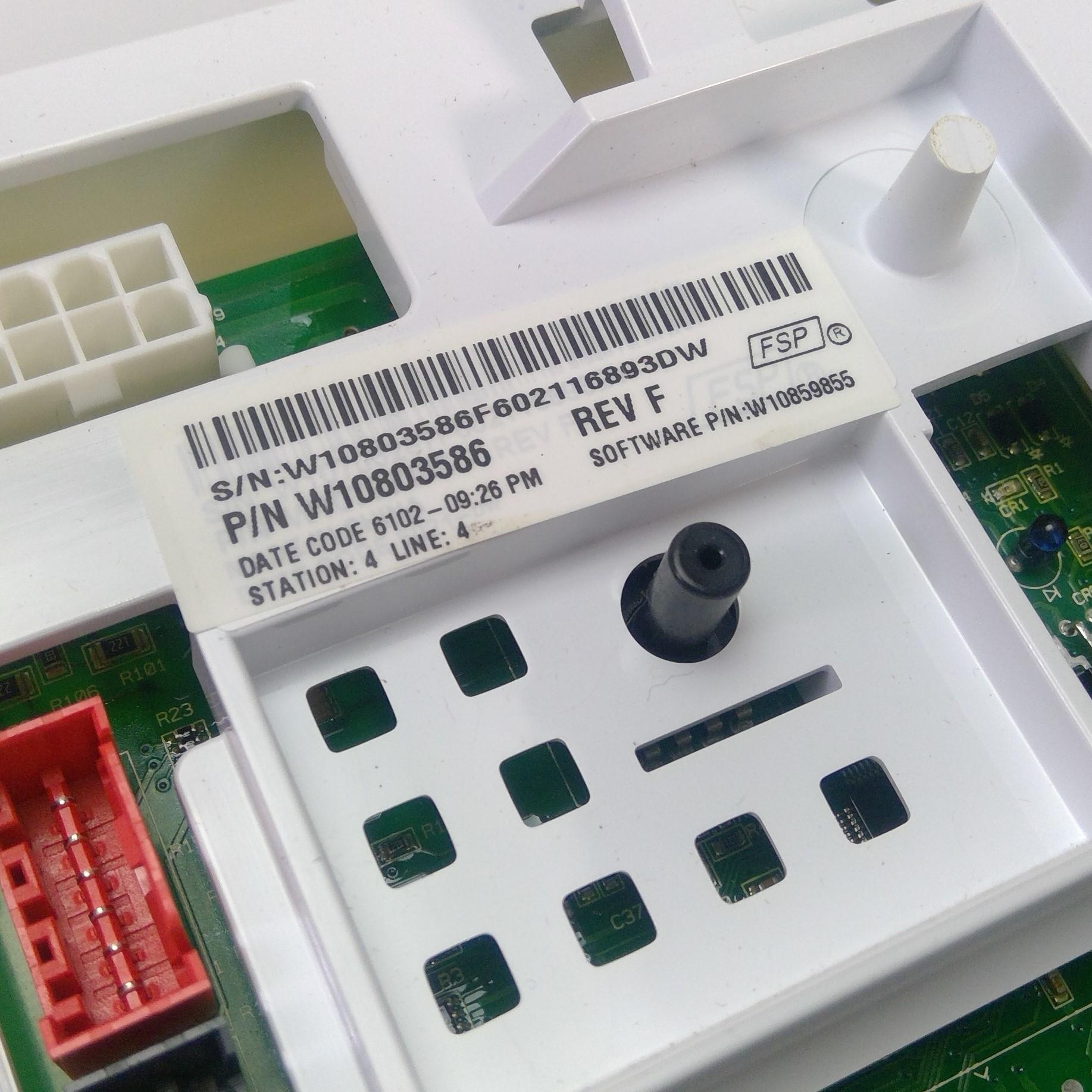 WHIRLPOOL Washing Machine MAIN CONTROL BOARD W10803586