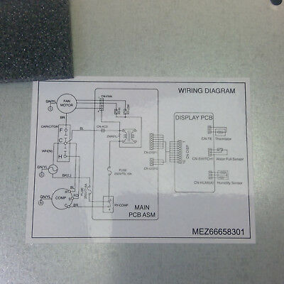 LG PuriCare Dehumidifier Parts UD701KOG1   Main Control   EAX43321414 on
