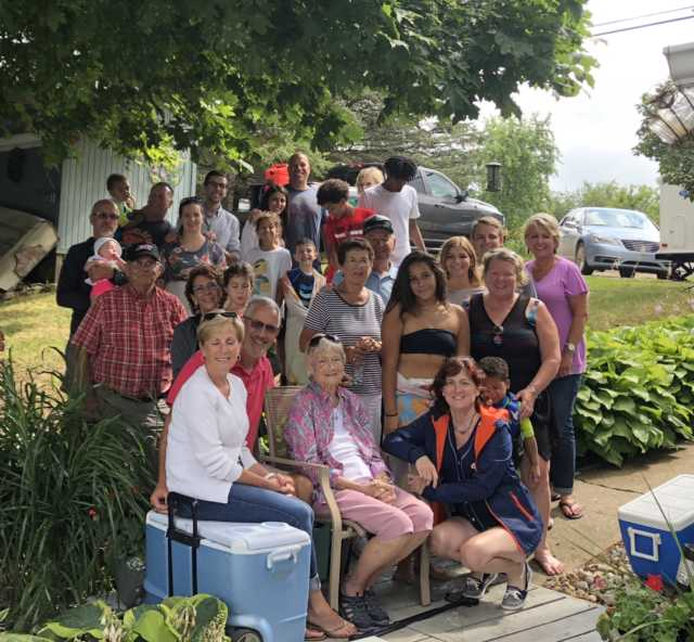 Group shot of Angie's Family Reunion