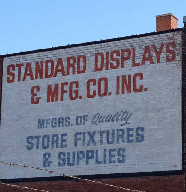 Standard Displays Store Sign, on east side of Cleveland