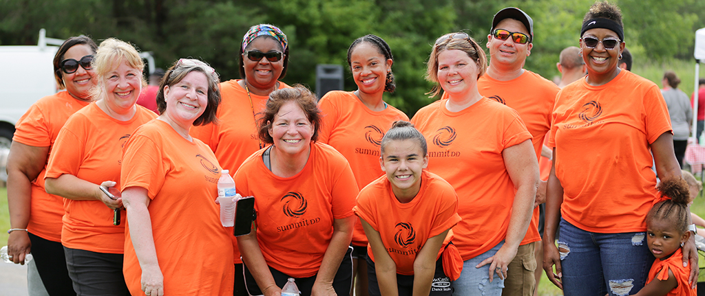 Summit DD staff and their families competing in the 2019 Akron Corporate Challenge.