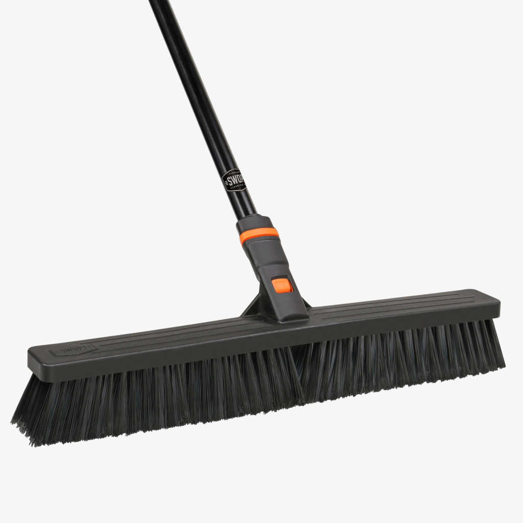 SWOPT Cleaning | 24 in. Multi-Surface Push Broom Combo - Standard