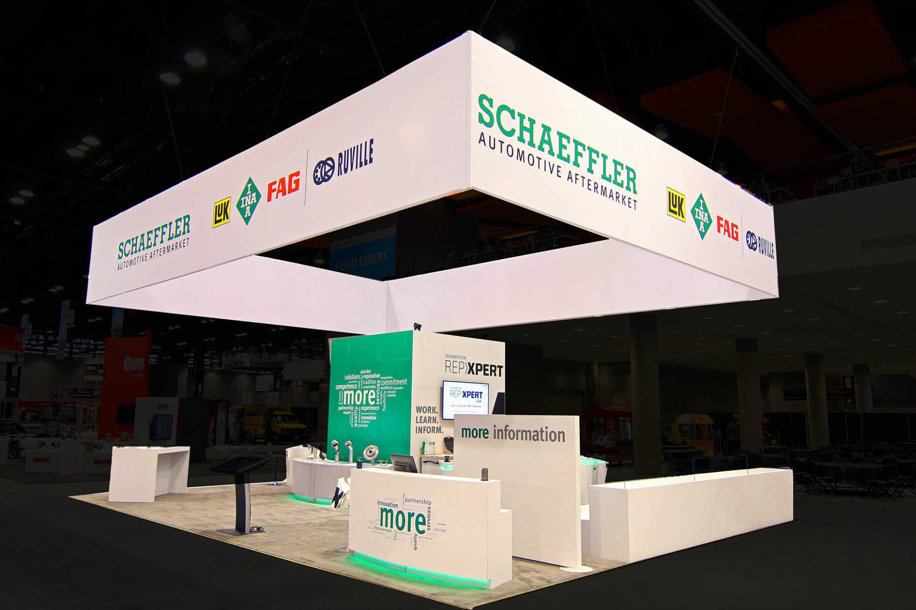 Schaeffler Group stood out on the show floor in their large island booth at Automechanica.