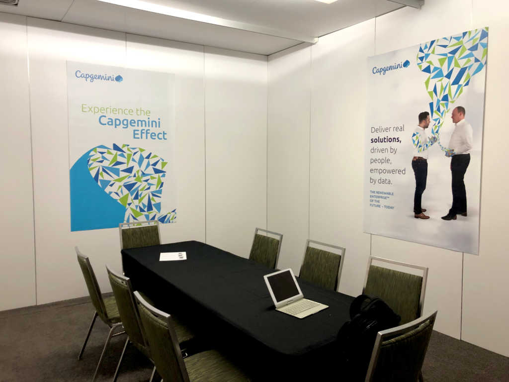 Capgemini's conference Room in the booth