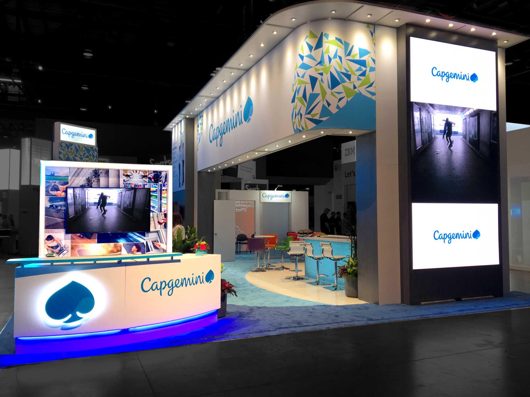 Capgemini 30x40 booth at SAPPHIRE NOW