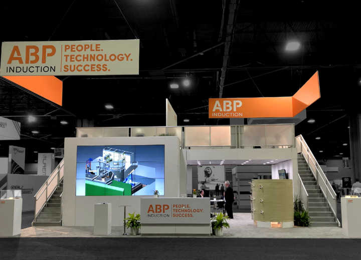 ABP Induction System trade show booth CAST EXPO - front view