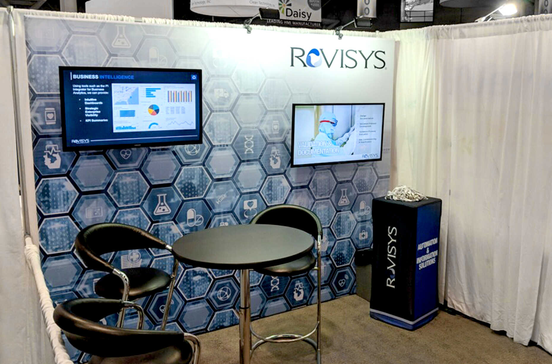 Rovysis exhibited at INTERPHEX in a nice clean 10x10.