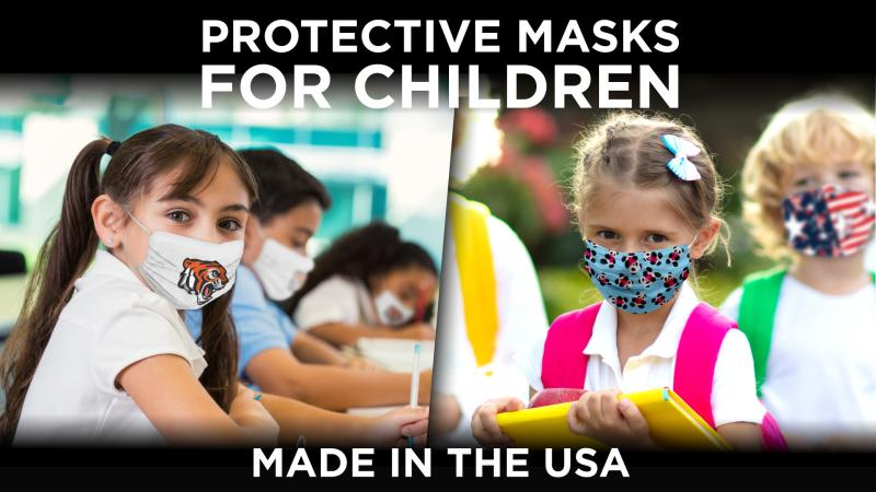 face masks for children and faculty at school.s