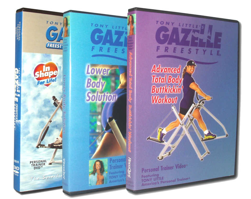 Gazelle - (3) of Tony's Personal Trainer DVD's