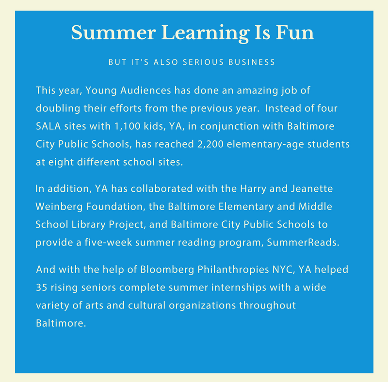 summer learning Archives | Young Audiences Arts For Learning, Maryland