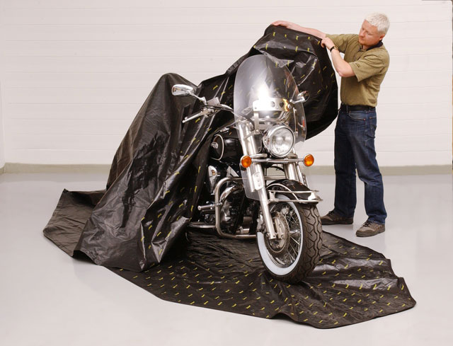 "Plain Closure 84/"" x 59/"" Zerust Rust Preventive Bicycle Storage Cover"
