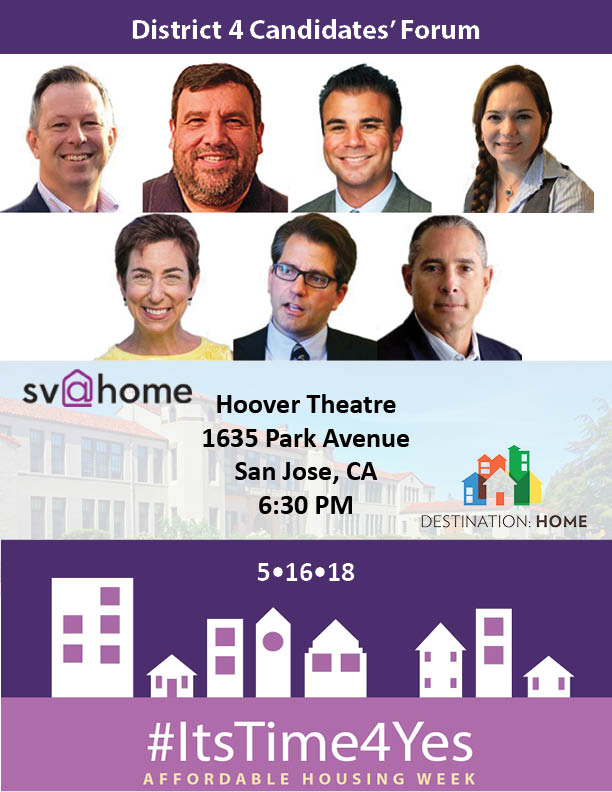 SV@Home & Destination Home's Santa Clara County Board of Supervisors D4 forum & debate