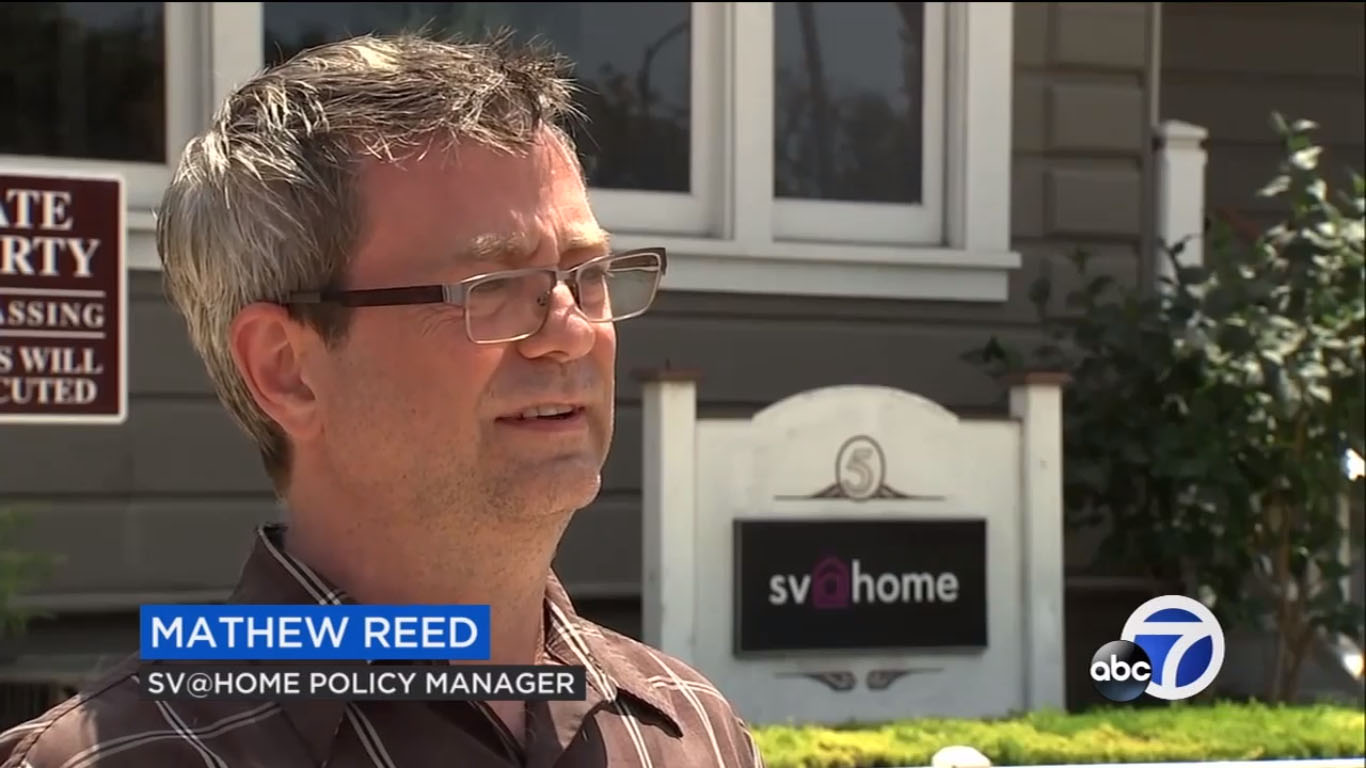 SV@Home Policy Manager Mathew Reed talks to KGO 7 about a new proposal to grant federal tax credits to renters devoting more than 30% of household income to rent and utilities.