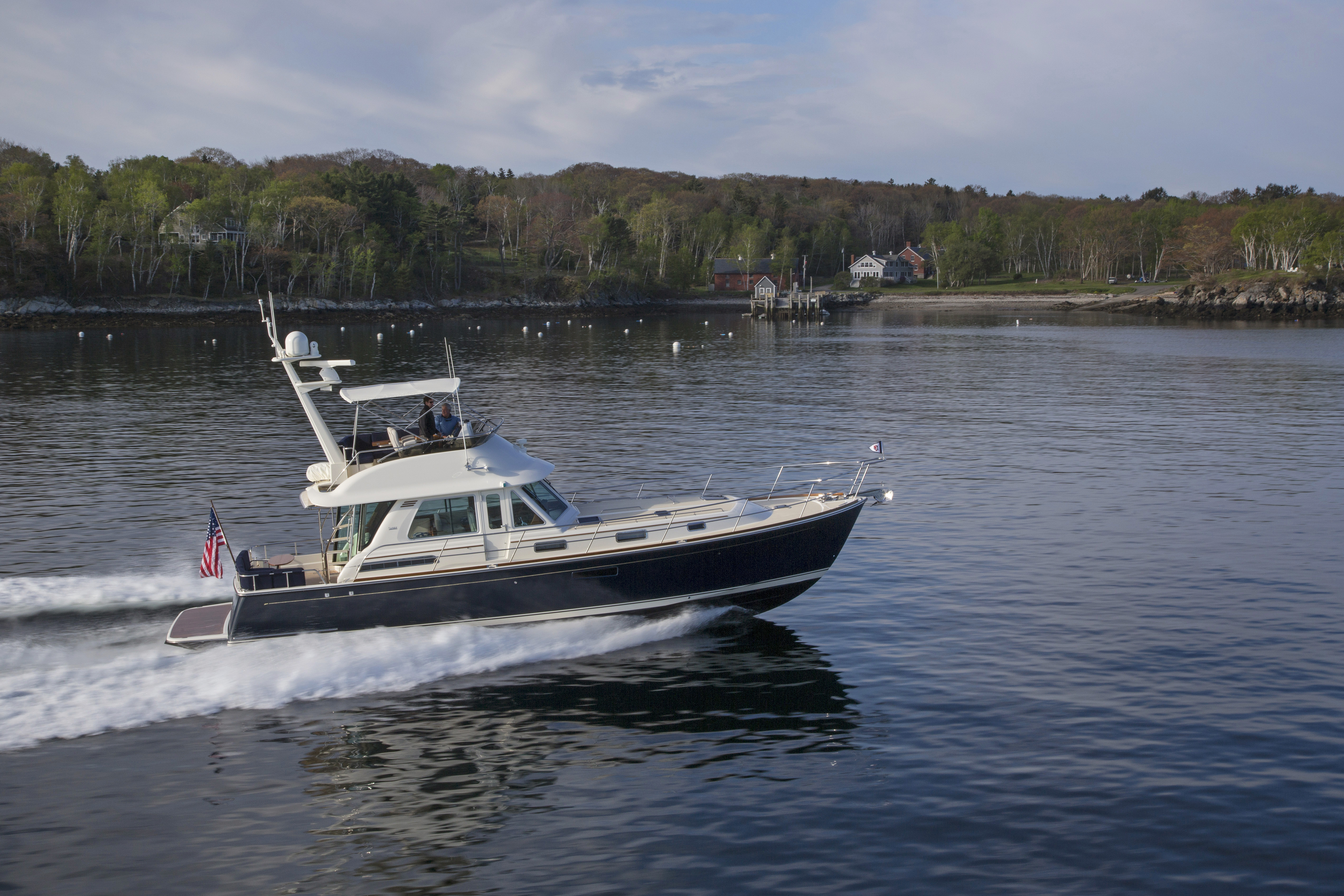 Sabre 48 Flybridge Off Portland Me Sabre Yachts