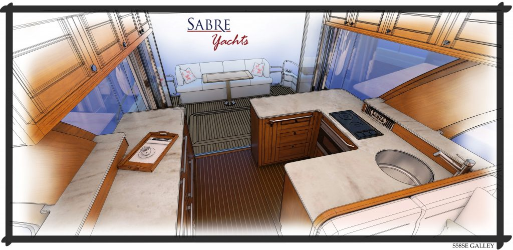 Sabre 58 Galley Design