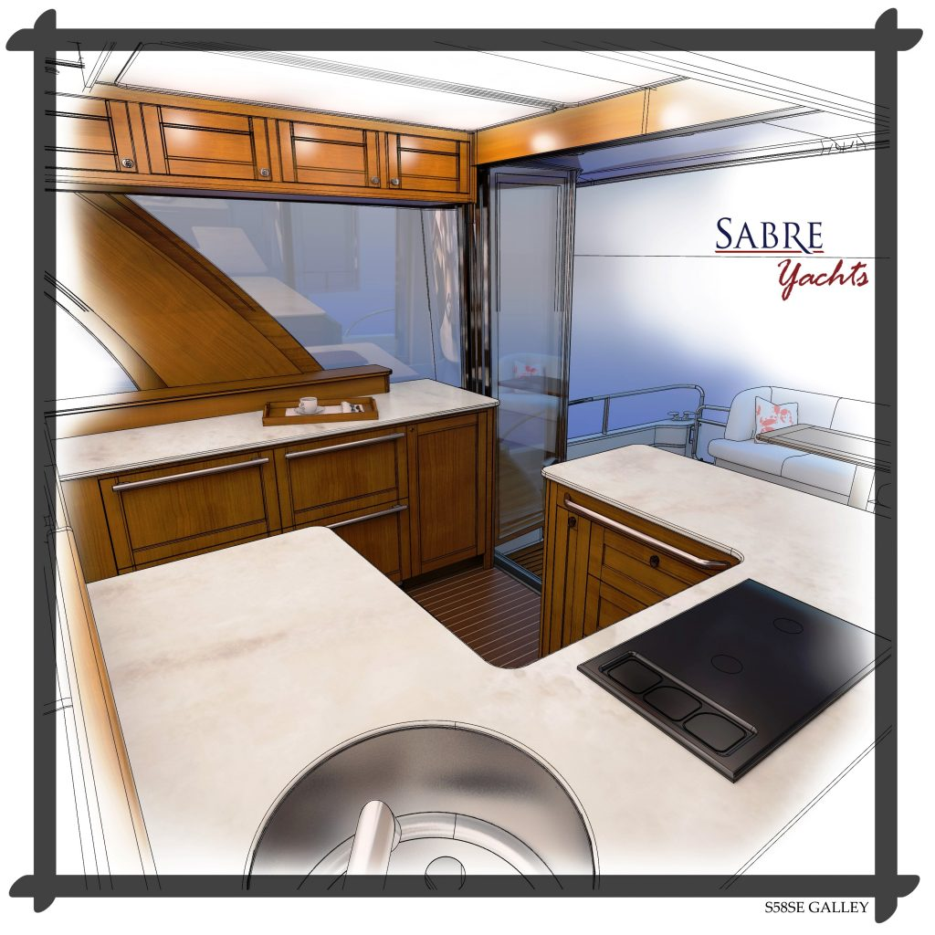 Sabre 58 Salon Express has a new galley design