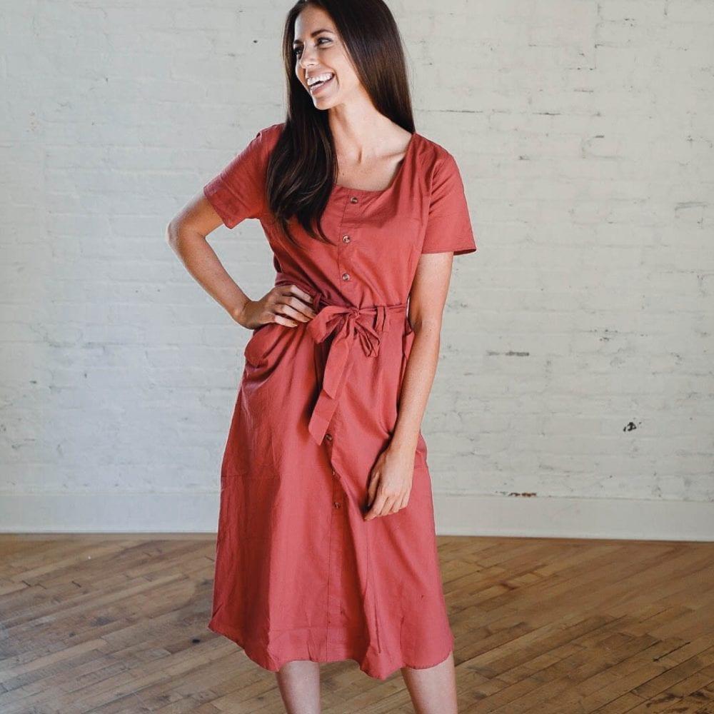 1da9b42715ae Rust Everyday Dress – Ashley LeMieux