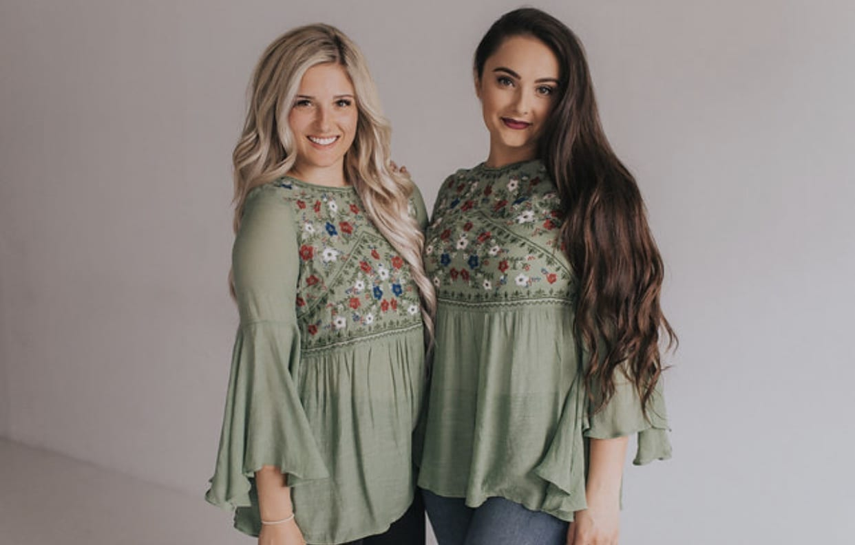 a074bc4c622d Whimsical Flutter Sleeve in Green – Ashley LeMieux