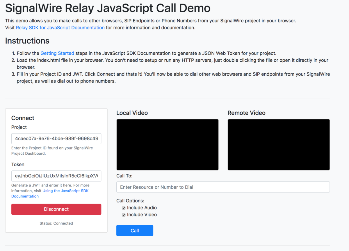 Voice and Video Calls in a Web Browser with RELAY | SignalWire