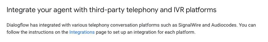 From Google Dialogflow Documentation