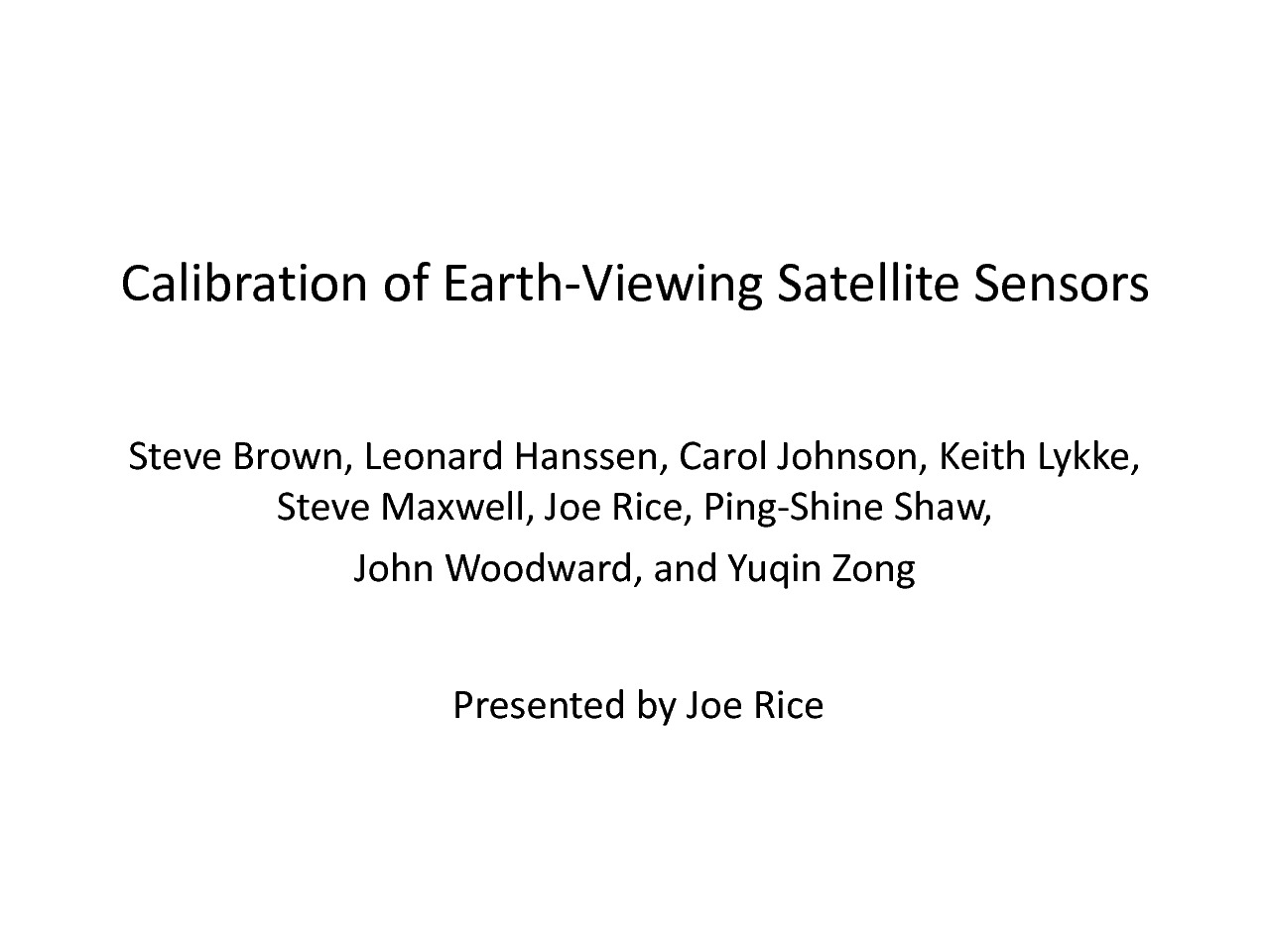 thumbnail of Calibration_of_Earth-Viewing_Satellite_Sensors