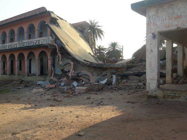 नक्सलियों ने गया में स्कूल को विस्फोट से उड़ाया, CAA, NRC के विरोध में पर्चा छोड़ा