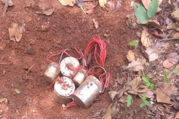 Jhrarkhand: चाईबासा में नक्सलियों की साजिश नाकाम, जवानों ने बरामद किया 5 केन बम