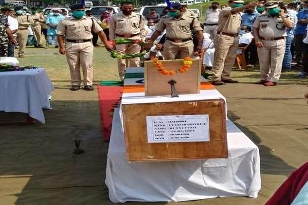झारखंड के लाल का राजकीय सम्मान के साथ हुआ अंतिम संस्कार, बीजापुर नक्सली मुठभेड़ में हो गया था शहीद