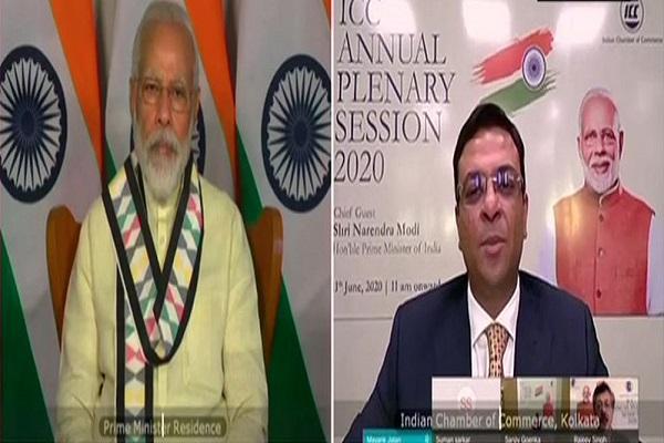 प्रधानमंत्री मोदी ने किया ICC के विशेष कार्यक्रम को संबोधित, कहा- 'मुसीबत की दवाई मजबूती है'
