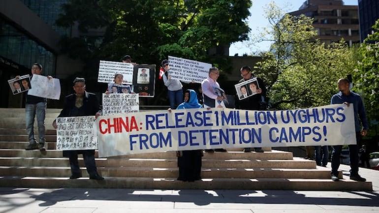 अमेरिका में चीन के खिलाफ विरोध-प्रदर्शन, लोगों ने चीन द्वारा गलवान घाटी में अतिक्रमण और चीनी मुस्लिम नागरिकों के शोषण का भी मसला उठाया