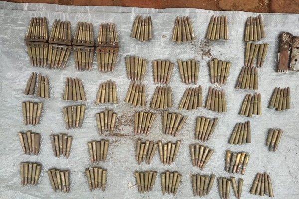 bullets and explosives recovered in Naxalites area