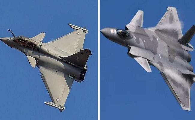 झड़प के बाद चीन ने उड़ाए J-20 फाइटर जेट, चीथड़े उड़ाने की क्षमता रखता है भारत का राफेल