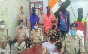 झारखंड: नक्सलियों के खिलाफ अभियान जारी, PLFI के 5 उग्रवादी गिरफ्तार, हथियार बरामद