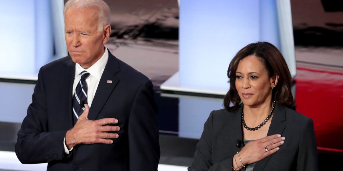 Joe Biden with kamala harris
