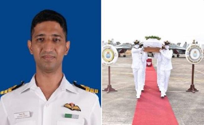 Indian Navy के फाइटर पायलट कमांडर निशांत सिंह का सैन्य सम्मान के साथ अंतिम संस्कार, 70 मीटर गहरे पानी में था शव