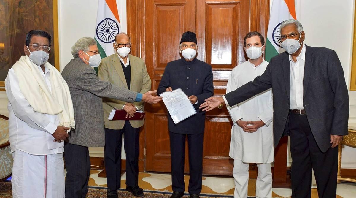 आज राष्ट्रपति से मुलाकात करेगा राहुल गांधी के नेतृत्व में कांग्रेस का प्रतिनिधिमंडल, कृषि कानूनों के विरोध में सौंपे जायेंगे 2 करोड़ लोगों के हस्ताक्षर