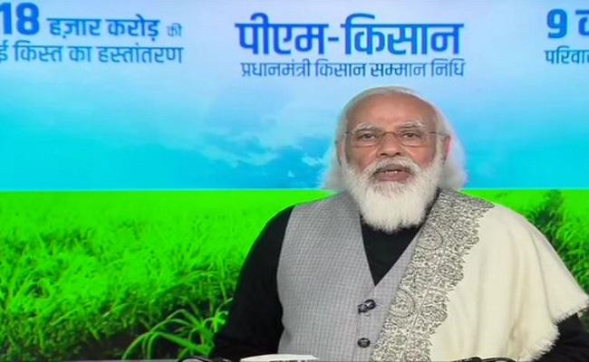 पीएम मोदी ने किसानों से किया संवाद, विपक्ष पर जमकर साधा निशाना