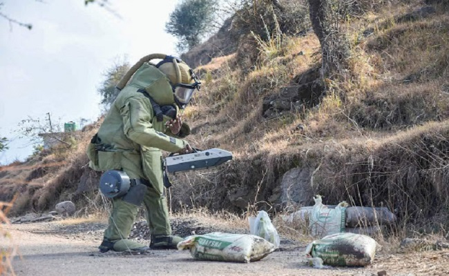 IED planted in motorcycle