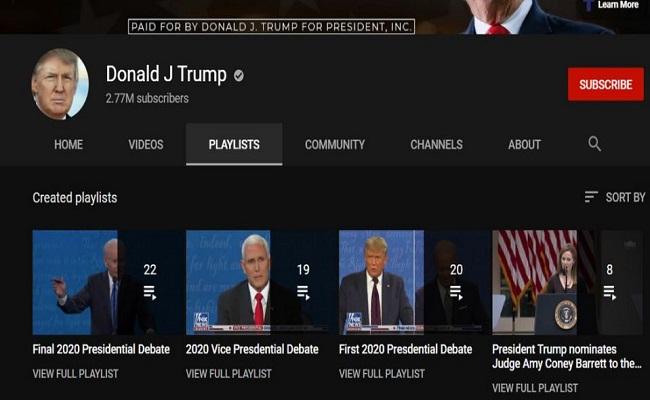 कैपिटल बिल्डिंग घटना के बाद खास से आम हुये मौजूदा अमेरिकी राष्ट्रपति, यूट्यूब ने भी ट्रंप के अकाउंट को सस्पेंड किया