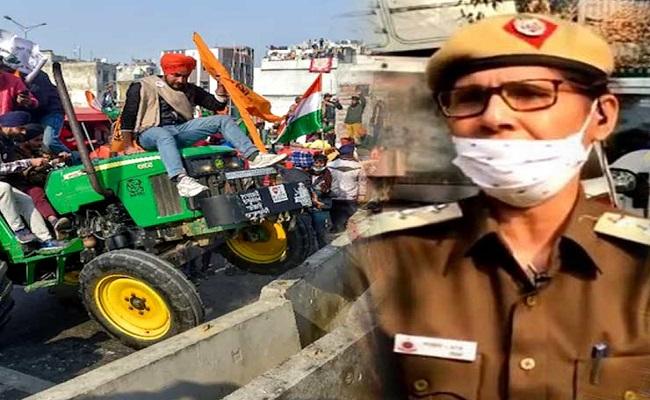 दिल्ली पुलिस की इस बहादुर महिला इंस्पेक्टर ने खोली टिकैत की पोल, जिससे राकेश ने कही थी ये बात- 'ए छोरियों हट जा' क्या ट्रैक्टर के निच्चे आना है'