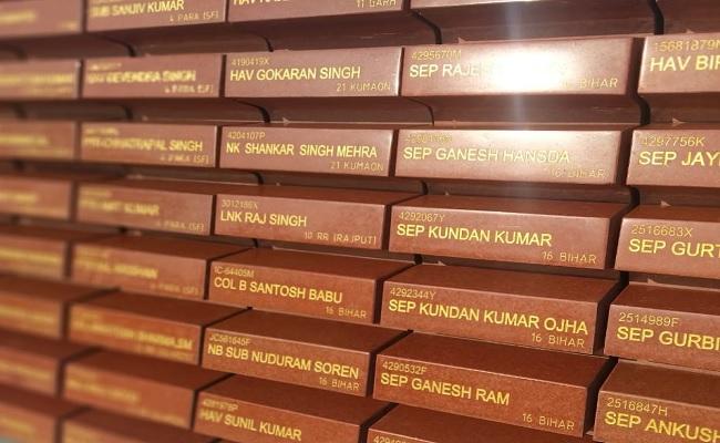 गलवान घाटी में शहीद हुए भारतीय सेना के जवानों को मिला सम्मान, राष्ट्रीय वॉर मेमोरियल पर लिखे गए नाम