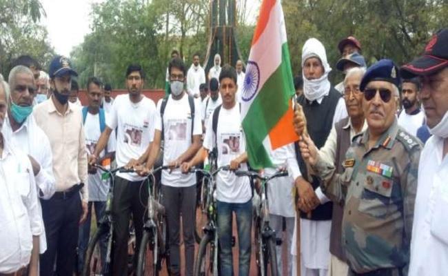 हरियाणा के 307 शहीद जवानों को पहचान दिलाने के लिए शुरू हुई साइकिल यात्रा, एडीसी ने दिखाई हरी झंडी