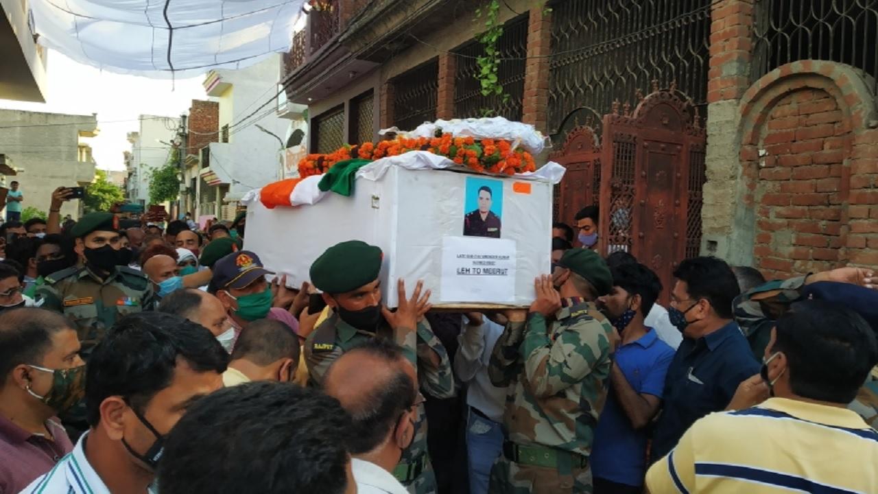 सियाचिन में शहीद हुआ मेरठ का जवान, राजकीय सम्मान के साथ हुआ अंतिम संस्कार