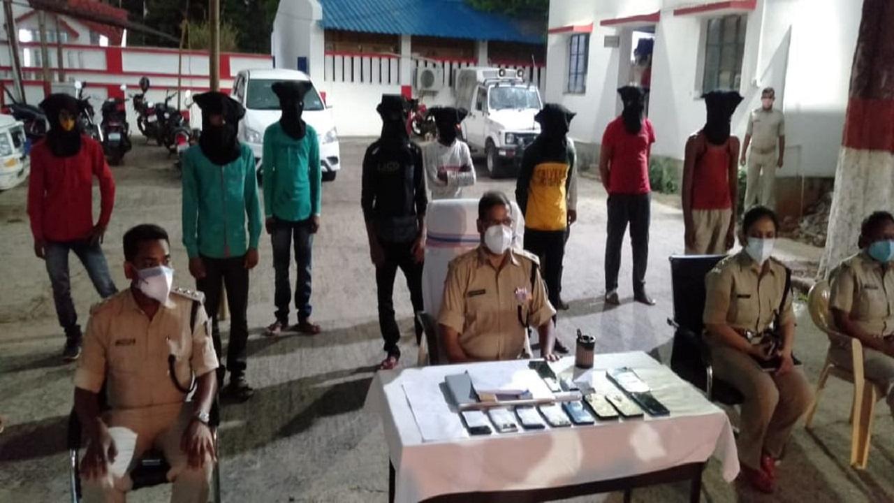 Ten Cyber Criminals arrested in Deoghar