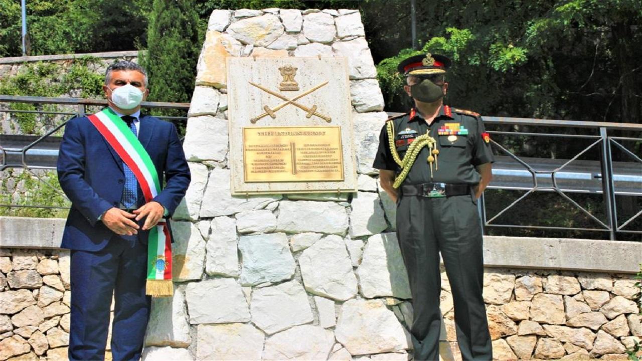 आर्मी चीफ जनरल एमएम नरवणे ने इटली के कैसिनो शहर में किया भारतीय सेना के स्मारक का उद्घाटन, देखें PHOTOS